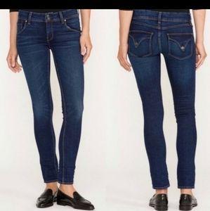 Hudson Collins Mid-Rise Skinny Jeans Dark blue